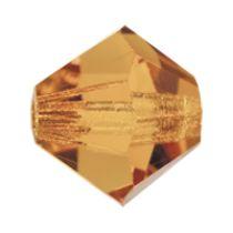Preciosa® Crystal Bicone Beads Light Colorado Topaz AB