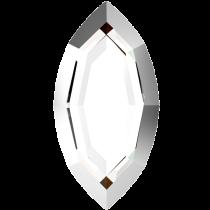 Swarovski Crystal Flatback Hotfix 2200 I Rimmed Flat Back (8.00x4.00mm)  Crystal Light Chrome (F) -  360 Pcs