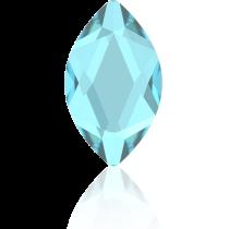 Swarovski Crystal Flatback Hotfix 2201 Marquise Flat Back (14.00x6.00mm) - Aquamarine (F) -  72 Pcs