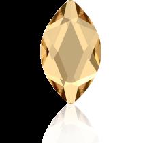 Swarovski Crystal Flatback Hotfix 2201 Marquise Flat Back (14.00x6.00mm) - Crystal Golden Shadow (F) -  72 Pcs