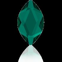 Swarovski Crystal Flatback Hotfix 2201 Marquise Flat Back (14.00x6.00mm) - Emerald (F) -  72 Pcs