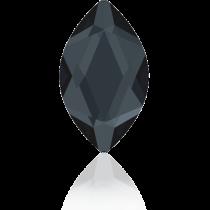 Swarovski Crystal Flatback Hotfix 2201 Marquise Flat Back (14.00x6.00mm) - Graphite (F) -  72 Pcs