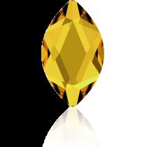 Swarovski Crystal Flatback Hotfix 2201 Marquise Flat Back (14.00x6.00mm) - Sunflower (F) -  72 Pcs