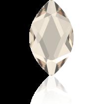 Swarovski Crystal Flatback No Hotfix 2201 Marquise Flat Back (14.00x6.00mm) - Crystal Silver Shade (F) -  72 Pcs