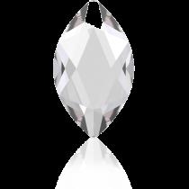 Swarovski Crystal Flatback No Hotfix 2201 Marquise Flat Back (14.00x6.00mm) - Crystal (F) -  72 Pcs
