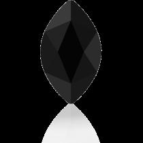 Swarovski Crystal Flatback No Hotfix 2201 Marquise Flat Back (14.00x6.00mm) - Jet (F) -  72 Pcs