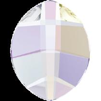 Swarovski Crystal Flatback No Hotfix 2204 Pure Leaf Flat Back (6.00x4.80mm) - Crystal Aurore Boreale (F) -  360 Pcs