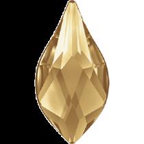 Swarovski Crystal Flatback Hotfix 2205 Flame Flat Back (10 mm) -Crystal Golden Shadow (F) -  144 Pcs