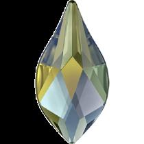Swarovski Crystal Flatback Hotfix 2205 Flame Flat Back (7.50 mm) - Crystal Iridescent Green (F) -  288 Pcs