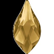 Swarovski Crystal Flatback No Hotfix 2205 Flame Flat Back (10 mm) - Light Colorado Topaz (F) -  144 Pcs