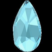 Swarovski Crystal Flatback Hotfix 2303 Pear Flat Back (8.00x5.00mm) - Aquamarine (F) - 144 Pcs