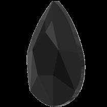 Swarovski Crystal Flatback Hotfix 2303 Pear Flat Back (8.00x5.00mm) - Jet (F) - 144 Pcs