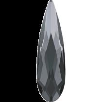 Swarovski Crystal Flatback Hotfix 2304 Raindrop Flat Back (10.00x2.80mm) - Crystal Silver Night (F) - 180 Pcs