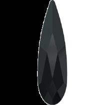 Swarovski Crystal Flatback No Hotfix 2304 Raindrop Flat Back (10.00x2.80mm) - Jet (F) - 180 Pcs