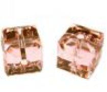 Swarovski Cubes(5601) 6 mm- Lt. Rose