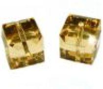Swarovski Cubes(5601) - 6 mm -Lt. Col.Topaz