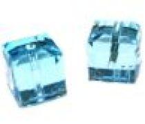 SWAROVSKI CUBES(5601) -4MM -Aqua