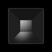 Swarovski Crystal Flat Back No Hotfix 2403 Pyramid Flat Back (10 mm) - Jet (F) - 72 Pcs