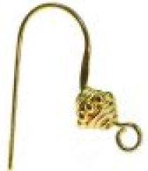 Vermail Gold Earring Hook- Height 22mm