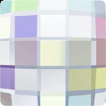 Swarovski Crystal Flat Back No Hotfix 2493 Chessboard Flat Back (8 mm) - Crystal Aurore Boreale (F) - 216 Pcs