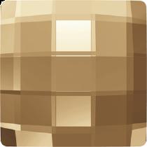 Swarovski Crystal Flat Back No Hotfix 2493 Chessboard Flat Back (8 mm) - Crystal Golden Shadow (F) - 216 Pcs