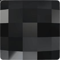 Swarovski Crystal Flat Back No Hotfix 2493 Chessboard Flat Back (8 mm) - Jet (F) - 216 Pcs