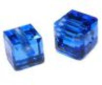 Swarovski Cubes(5601) 6 mm- Sapphire