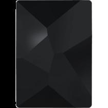 Swarovski Crystal Flat Back No Hotfix 2520 Cosmic Flat Back (10.00x8.00mm) - Jet (F) - 144 Pcs