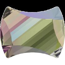 Swarovski Crystal Flat Back No Hotfix 2540 Curvy Flat Back (7.00x5.50mm) - Crystal Paradise Shine (F) - 240 Pcs