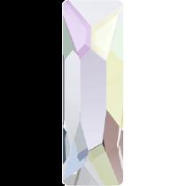 Swarovski Crystal Flat Back Hotfix 2555 Cosmic Flat Back (15.00x5.00mm)- Crystal Aurore Boreale (F) - 72 Pcs