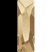 Swarovski Crystal Flat Back No Hotfix 2555 Cosmic Flat Back (15.00x5.00mm) - Crystal Golden Shadow (F) - 72 Pcs