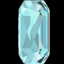 Swarovski Crystal Flatback Hotfix 2602 Emerald Cut Flat Back (14.00x10.00 mm) - Aquamarine (F) - 72 Pcs