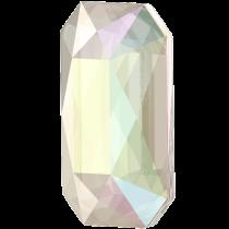 Swarovski Crystal Flatback Hotfix 2602 Emerald Cut Flat Back (14.00x10.00 mm) - Crystal Aurore Boreale (F) - 72 Pcs