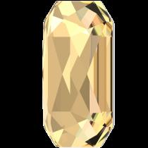 Swarovski Crystal Flatback Hotfix 2602 Emerald Cut Flat Back (14.00x10.00 mm) - Crystal Golden Shadow (F) - 72 Pcs