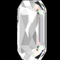 Swarovski Crystal Flatback Hotfix 2602 Emerald Cut Flat Back (14.00x10.00 mm) - Crystal (F) - 72 Pcs