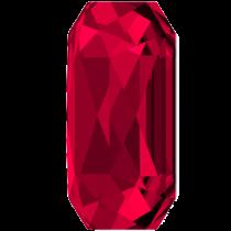 Swarovski Crystal Flatback Hotfix 2602 Emerald Cut Flat Back (14.00x10.00 mm) - Scarlet (F) - 72 Pcs