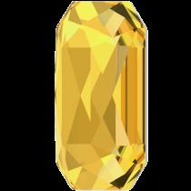 Swarovski Crystal Flatback Hotfix 2602 Emerald Cut Flat Back (14.00x10.00 mm) - Sunflower (F) - 72 Pcs