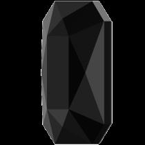Swarovski Crystal Flatback No Hotfix 2602 Emerald Cut Flat Back (14.00x10.00 mm) - Jet (F) - 72 Pcs