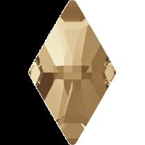 Swarovski Crystal Flat Back No Hotfix 2709 Rhombus Flat Back (13.00x8.00mm) - Crystal Golden Shadow (F) - 216 Pcs