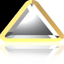 Swarovski Crystal Flatback Hotfix 2711 I Rimmed Flat Back (6mm) Crystal Dorado (F) -  360 Pcs