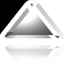 Swarovski Crystal Flatback Hotfix 2711 I Rimmed Flat Back (6mm)  Crystal Light Chrome (F) -  360 Pcs