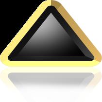 Swarovski Crystal Flatback Hotfix 2711 I Rimmed Flat Back (6mm)  Jet Dorado (F) -  360 Pcs