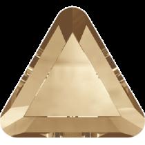 Swarovski Crystal Flat Back No Hotfix 2711 Triangle Flat Back (3.3mm) - Crystal Golden Shadow (F) - 720 Pcs