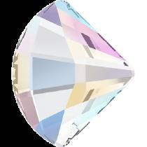 Swarovski Crystal Flat Back No Hotfix 2714 Fan Flat Back (10 mm) - Crystal Aurore Boreale (F) -144 Pcs