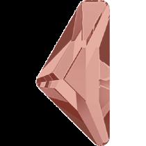 Swarovski Crystal Flatback Hotfix 2738 Triangle Alpha Flat Back (12.00x6.00 mm) - Blush Rose (F) - 96 Pcs