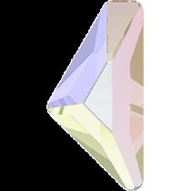 Swarovski Crystal Flatback Hotfix 2738 Triangle Alpha Flat Back (12.00x6.00 mm) - Crystal Aurore Boreale(F) - 96 Pcs