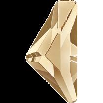 Swarovski Crystal Flatback Hotfix 2738 Triangle Alpha Flat Back (12.00x6.00 mm) - Crystal Golden Shadow (F) - 96 Pcs