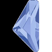 Swarovski Crystal Flatback Hotfix 2738 Triangle Alpha Flat Back (12.00x6.00 mm) - Light Sapphire (F) - 96 Pcs
