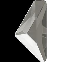 Swarovski Crystal Flatback No Hotfix 2738 Triangle Alpha Flat Back (12.00x6.00 mm) - Crystal Dark Grey (F) - 96 Pcs