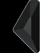 Swarovski Crystal Flatback No Hotfix 2738 Triangle Alpha Flat Back (12.00x6.00 mm) - Jet (F) - 96 Pcs